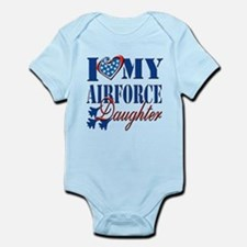 I Love My Airforce Daughter Body Suit