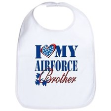 I Love My Airforce Brother Bib