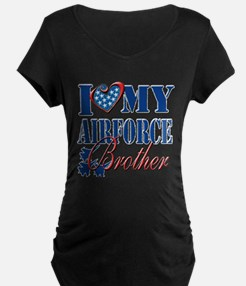 I Love My Airforce Brother Maternity T-Shirt