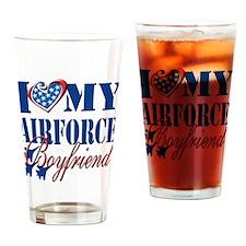 I Love My Airforce Boyfriend Drinking Glass