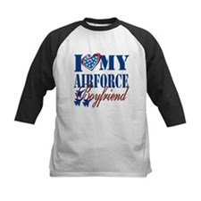 I Love My Airforce Boyfriend Baseball Jersey
