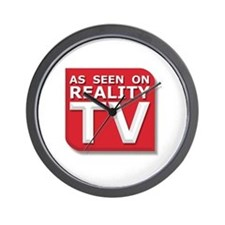 Funny As Seen on Reality TV Logo Wall Clock