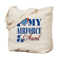 I Love My Airforce Aunt Tote Bag
