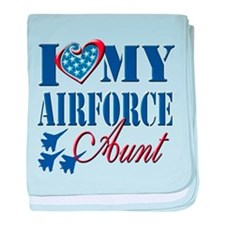 I Love My Airforce Aunt baby blanket