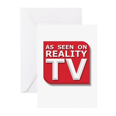 Funny As Seen on Reality TV Logo Greeting Cards (P