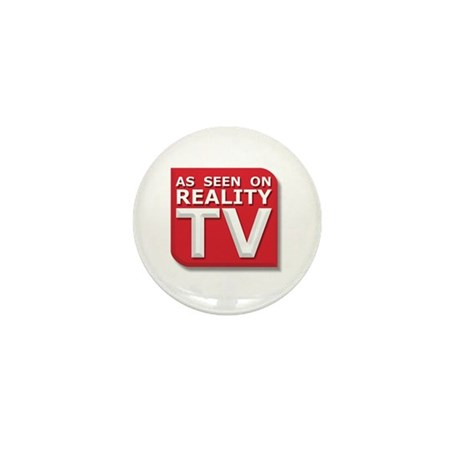 Funny As Seen on Reality TV Logo Mini Button