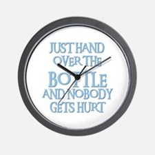 HAND OVER THE BOTTLE Wall Clock