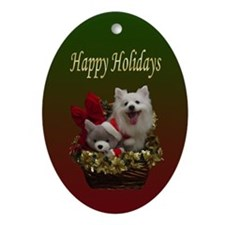 American Eskimo Dog Ornament (Oval)
