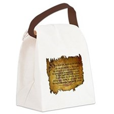 charmed invoking spell Canvas Lunch Bag