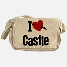 I Love Castle Messenger Bag