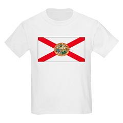 Florida Sunshine State Flag Kids T-Shirt