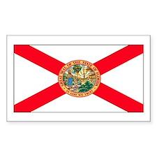 Florida Sunshine State Flag Rectangle Decal