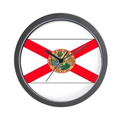 Florida Sunshine State Flag Wall Clock