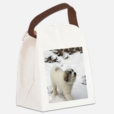 Great Pyrenees Puppy Canvas Lunch Bag