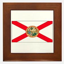 Florida Sunshine State Flag Framed Tile