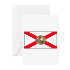 Florida Sunshine State Flag Greeting Cards (Packag