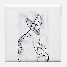 Devon Rex Purebred Kitty Cat Tile Coaster