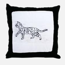 Kitty Kat KRafts Throw Pillow