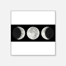 Three Phase Moon Oval Sticker