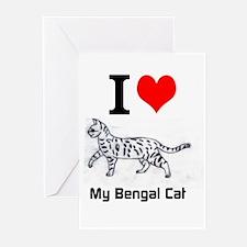 Bengal Cat Love Greeting Cards (Pk of 10)