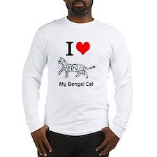 Bengal Cat Love Long Sleeve T-Shirt