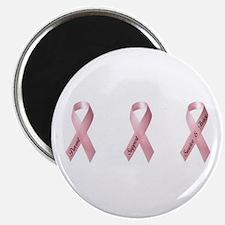 Pink Ribbon 3 Magnet
