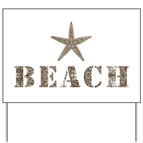 Beach Yard Sign