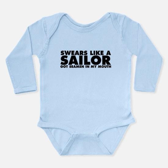 Swears Like a Sailor Long Sleeve Infant Bodysuit