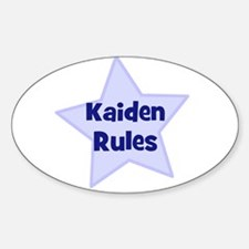 Kaiden Rules Oval Decal