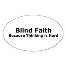Blind Faith Rectangle Decal