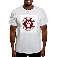 Black Russian Terrier Ash Grey T-Shirt