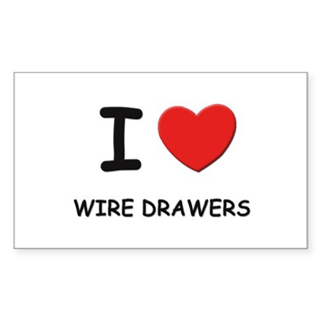 I Love wire drawers Rectangle Sticker