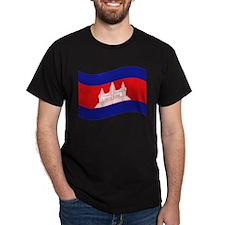 Cambodian / Khmer Flag Wave T-Shirt