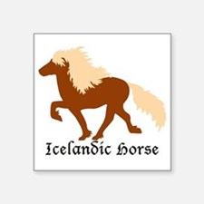 Chestnut Icelandic Horse with lettering Sticker