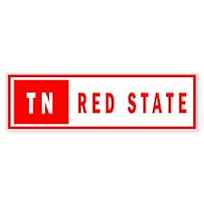 Red State - Tennesee Bumper Bumper Sticker
