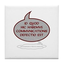 Latin 'Failure to Communicate' Tile Coaster