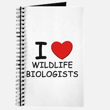 I Love wildlife biologists Journal