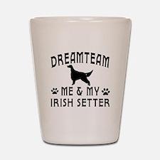 Irish Setter Dog Designs Shot Glass