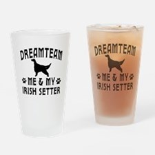 Irish Setter Dog Designs Drinking Glass