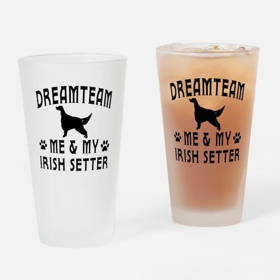 Irish Setter Dog Designs Drinking Glass