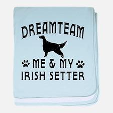 Irish Setter Dog Designs baby blanket