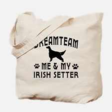 Irish Setter Dog Designs Tote Bag