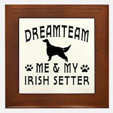 Irish Setter Dog Designs Framed Tile