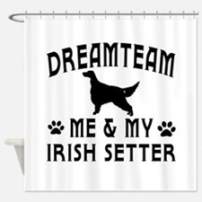 Irish Setter Dog Designs Shower Curtain