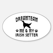 Irish Setter Dog Designs Sticker (Oval)
