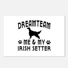 Irish Setter Dog Designs Postcards (Package of 8)