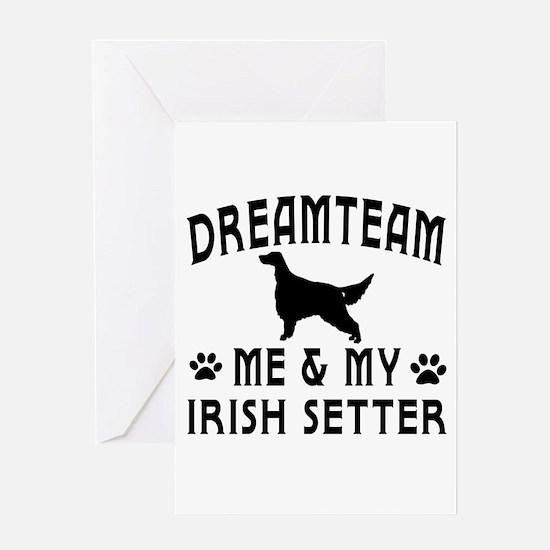 Irish Setter Dog Designs Greeting Card