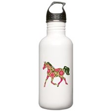Floral Horse Sports Water Bottle