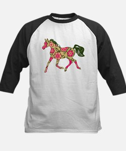 Floral Horse Baseball Jersey
