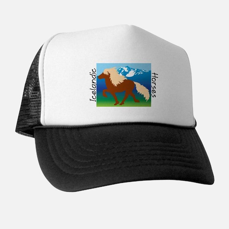 Icelandic horse scene Trucker Hat